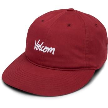 Gorra curva roja ajustable Volscripto Burgundy de Volcom