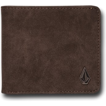 Cartera marrón Slim Stone Dark Brown de Volcom
