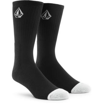 Calcetines negros con logo pequeño Full Stone Black de Volcom