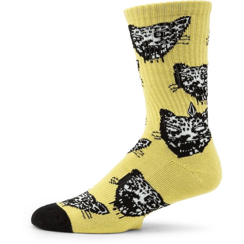 Volcom Ozzie Calcetines Hombre Amarillo