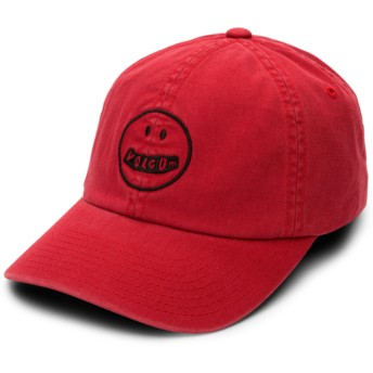 Gorra curva roja ajustable Good Mood Chili Red de Volcom