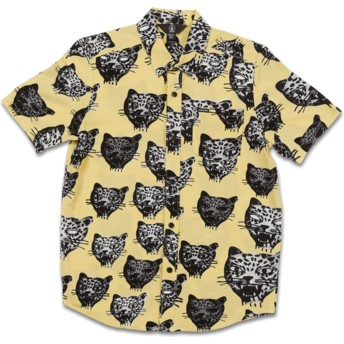 Camisa manga corta amarilla para niño Ozzie Cat Lime de Volcom