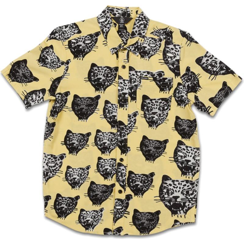 2d90a33a3 Camisa manga corta amarilla para niño Ozzie Cat Lime de Volcom ...
