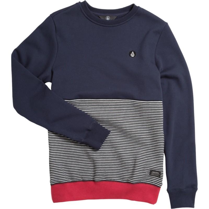 72eda97e846c Sudadera sin capucha azul marino, gris y roja para niño Forzee Navy ...