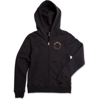 Sudadera con capucha y cremallera negra para niño Supply Stone Black Out de Volcom