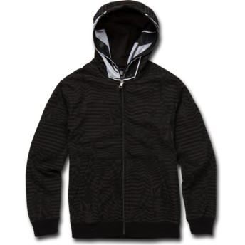 Sudadera con capucha y cremallera negra para niño Cool Stone Full Black de Volcom