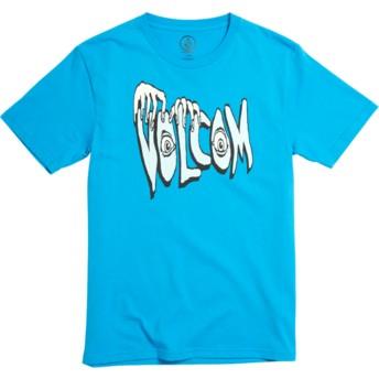 Camiseta manga corta azul para niño Volcom Panic Division Cyan Blue de Volcom