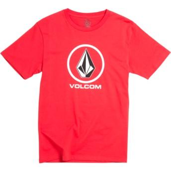 Camiseta manga corta roja para niño Crisp Stone Division True Red de Volcom