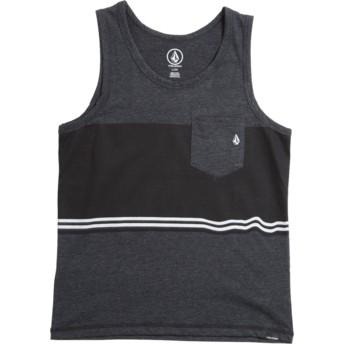 Camiseta de tirantes negra para niño 3 Quarter Heather Black de Volcom