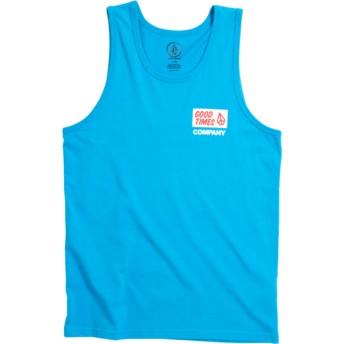 Camiseta de tirantes azul para niño Volcom Is Good Cyan Blue de Volcom