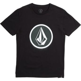 Camiseta manga corta negra para niño Spray Stone Black de Volcom