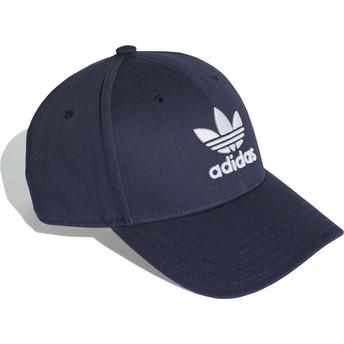 Gorra curva azul marino ajustable Trefoil Baseball de Adidas