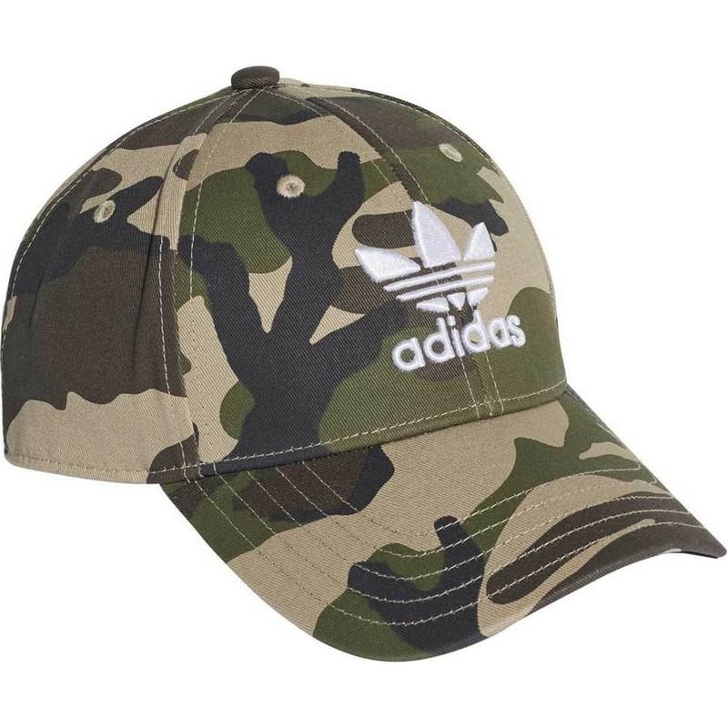 As Hacia arriba Irónico  Gorra curva camuflaje ajustable Trefoil Classic de Adidas: Caphunters.es