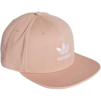 Gorra plana rosa snapback Trefoil Adicolor de Adidas