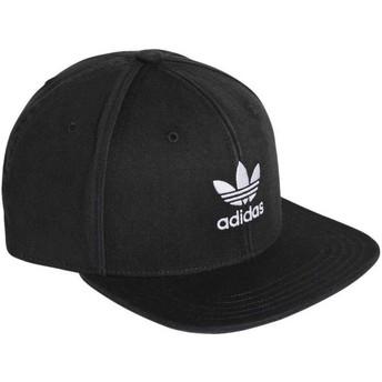 Gorra plana negra snapback Trefoil Adicolor de Adidas