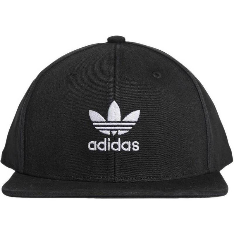 c054edb7ddd37 Gorra plana negra snapback Trefoil Adicolor de Adidas  comprar ...