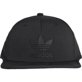 Gorra plana negra snapback 3 Stripes de Adidas