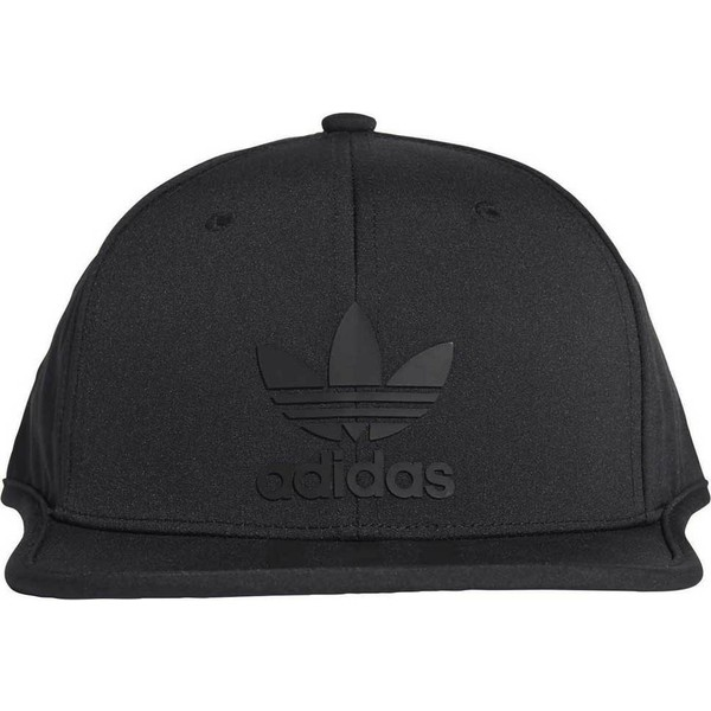 52b14ca27855d Gorra plana negra snapback 3 Stripes de Adidas  comprar online en ...