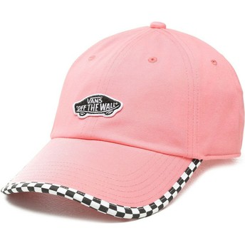 Gorra curva rosa ajustable Check It de Vans