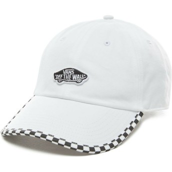 Gorra curva blanca ajustable Check It de Vans