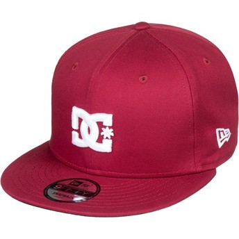 Gorra plana granate snapback Empire Fielder de DC Shoes
