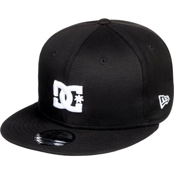 Gorra plana negra snapback Empire Fielder de DC Shoes