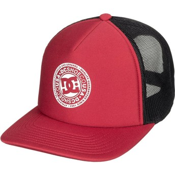Gorra trucker roja y negra Vested Up de DC Shoes