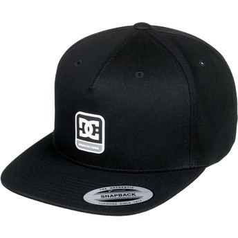 Gorra plana negra snapback Snapdragger de DC Shoes