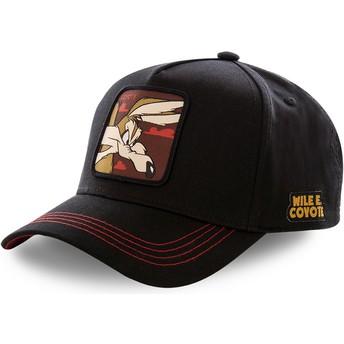 Gorra curva negra snapback Coyote COY3 Looney Tunes de Capslab