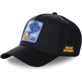 Gorra curva negra snapback Correcaminos ROA3 Looney Tunes de Capslab