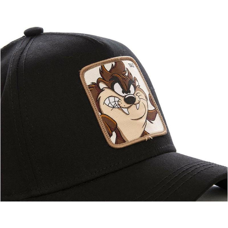 Gorra curva negra snapback Diablo de Tasmania TAZ5 Looney Tunes de ... d2ec3b962fe