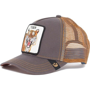 Gorra trucker marrón tigre Eye of the Tiger de Goorin Bros.