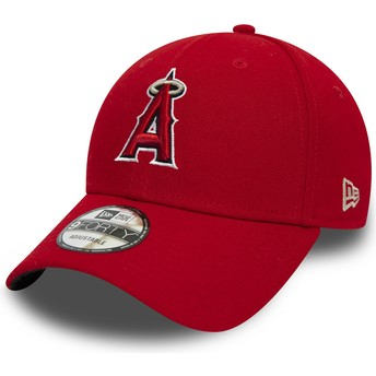 Gorra curva roja ajustable 9FORTY The League de Anaheim Angels MLB de New Era