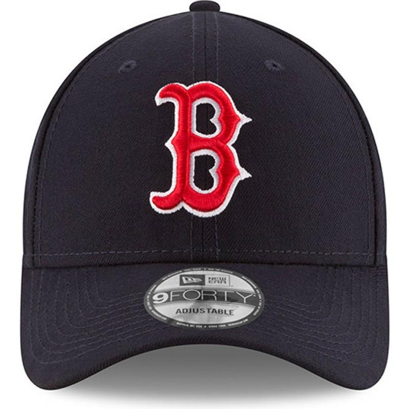 Gorra curva azul marino ajustable 9FORTY The League de Boston Red ... 3822ca80c9a