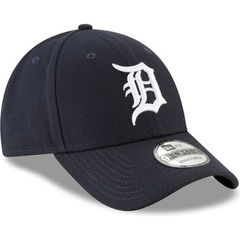 Gorra curva azul marino ajustable 9FORTY The League de Detroit Tigers MLB de New Era