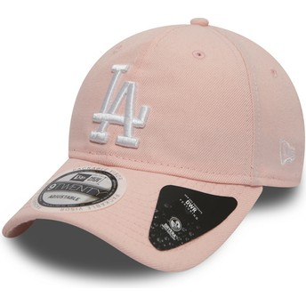 Gorra curva rosa ajustable 9TWENTY DryEra Packable de Los Angeles Dodgers MLB de New Era