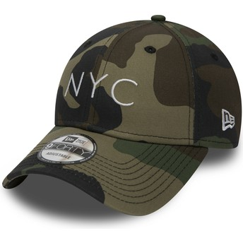 Gorra curva camuflaje ajustable 9FORTY Essential NYC de New Era