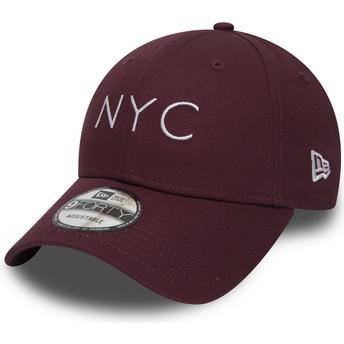 Gorra curva granate ajustable 9FORTY Essential NYC de New Era