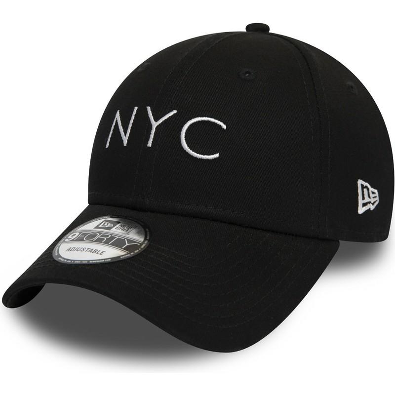 d9eb2402f99 Gorra curva negra ajustable 9FORTY Essential NYC de New Era  comprar ...