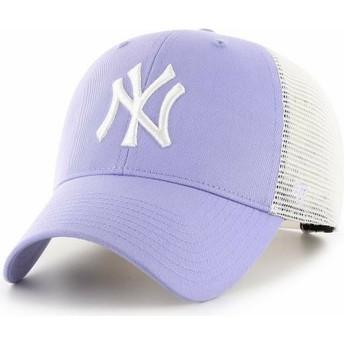 Gorra trucker violeta lavanda MVP Flagship de New York Yankees MLB de 47 Brand