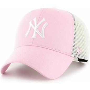 Gorra trucker rosa claro MVP Flagship de New York Yankees MLB de 47 Brand