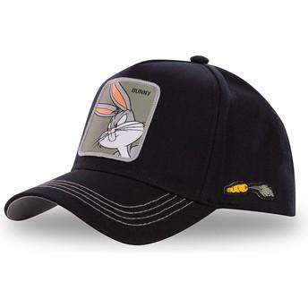 Gorra curva negra snapback Bugs Bunny BUN3 Looney Tunes de Capslab