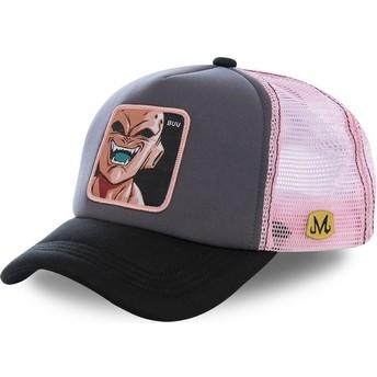Gorra trucker gris y rosa Kid Buu BUU3M Dragon Ball de Capslab