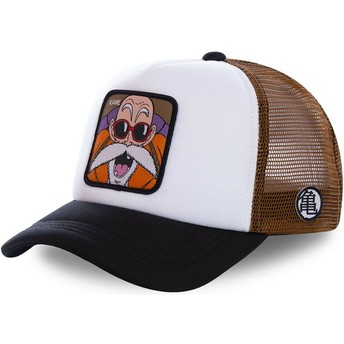 Gorra trucker blanca, marrón y negra Master Roshi KAM3M Dragon Ball de Capslab