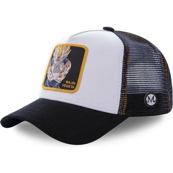 Gorra trucker blanca y negra Majin Vegeta MV4 Dragon Ball de Capslab