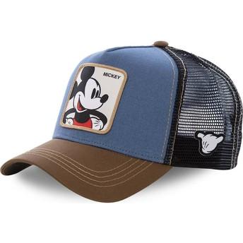 Gorra trucker azul, negra y marrón Mickey Mouse MIC1 Disney de Capslab