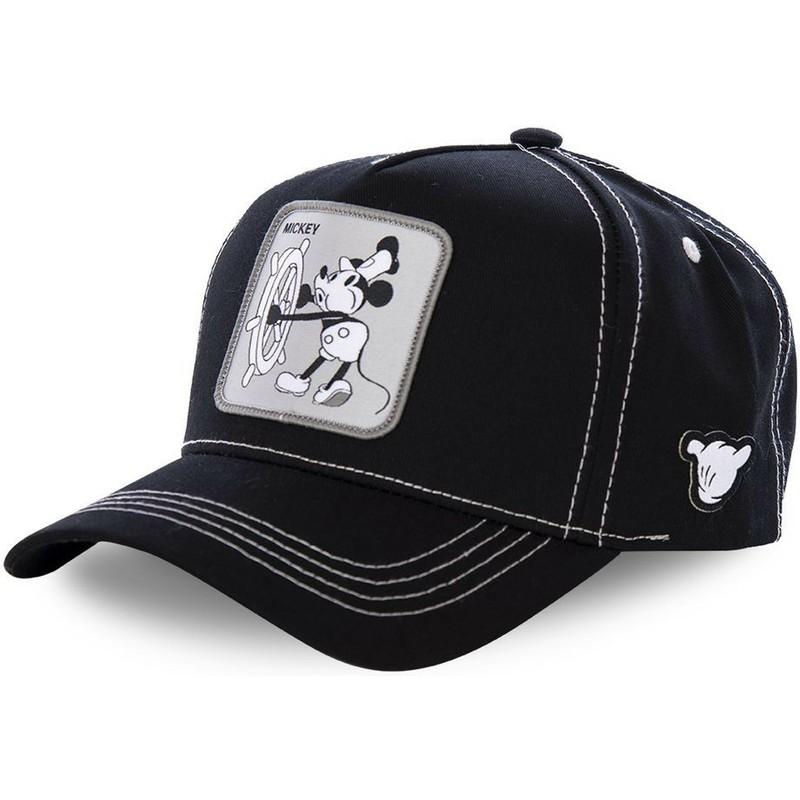 Gorra curva negra snapback Mickey Mouse Vintage VIN1 Disney de ... 8f335d10ad7