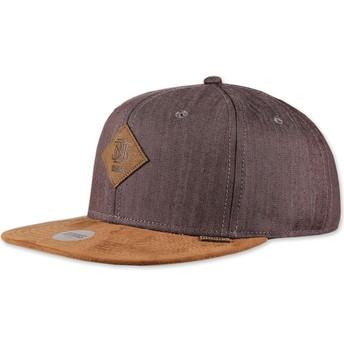 Gorra plana marrón snapback Linen 2015 de Djinns