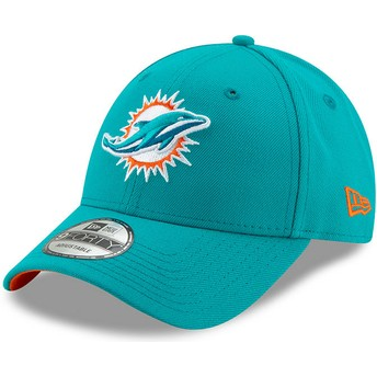 Gorra curva azul ajustable 9FORTY The League de Miami Dolphins NFL de New Era
