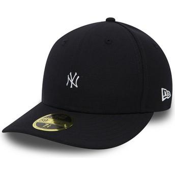 Gorra plana negra ajustada 59FIFTY Low Profile Mini Logo de New York Yankees MLB de New Era